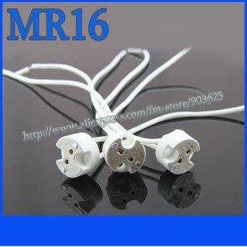 10pcs wholesale MR16 socket,MR16 Holder,MR16 Base,LED Light Lamp Bulb Adapter Converter Holder free shipping