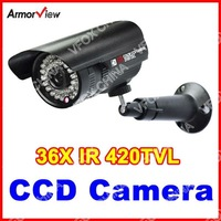 3.6MM Wide Angle 420TVL SONY SUPER HAD CCD Outdoor Weatherproof Bullet 36IR Security CCTV Camera