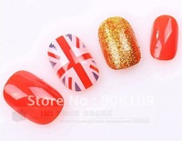 False Nail 24pcs/pack Japanese short paragraph Manicure free shipping