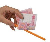 5 pcs/lot misled pencil through bill----Free shipping magic tricks, magic props, magic show magic