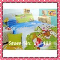 Cartoon Cotton children 3pcs Bedding Set Bear Kid Bedding Free Shipping