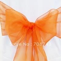 Free shipping /orange organza sash for wedding