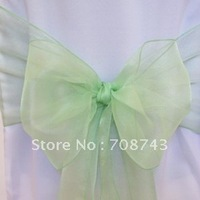 Free shipping / sage green organza sash for wedding