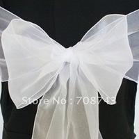 Free shipping / white organza sash for wedding
