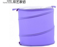 Large-capacity round folding tube / cylinder laundry basket
