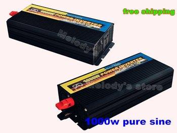 1000w pure sine wave power inverter DC 12V to AC 220V 50Hz /110v 60hz solar wind power supply DHL shipping