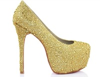 Туфли на высоком каблуке Red-sole Sequins Beading Dimaond High Heel Shoes Dressing Evening Party Cocktail Shoes