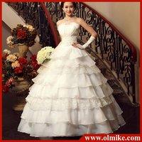 free shipping Wholesale price fashion sexy Bridal wedding dress new 2012 Korean bride clothes sweet Princess Bra wedding dresses