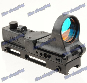 Style Red Dot Sight Railway Reflex for RIS Rail Black free shipping