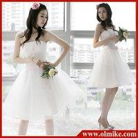 Free shipping sale girl skirt fashion bride wedding toast clothes Bra party dresses bridesmaid dress White XXS - XXXL