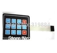 Free shipping  10pcs 3x4 Matrix Keyboard Keypad membrane switch Use Key PIC button pane