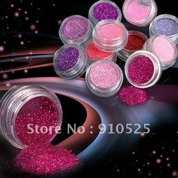 12 x Princess Color Fine Glitter Dust Nail Art Collection | BN144