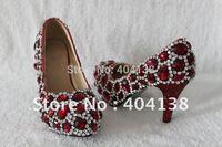 Drop shipping New 2 colors Platforms Sexy high heels wedding shoes handmade Rhinestone Crystal women's Pumps size 34-40
