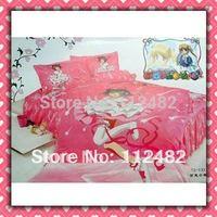 Reactive dyes printed 4pcs Bedding Cotton Cardcaptor Sakura Bedding Set Children's Free Shipping