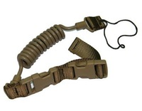 Airsoft Tactical Sling Elastic Lanyard with adjust Buckle Tan free ship