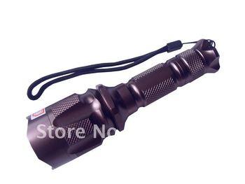 250 Lumen Zoomable CREE XM-L T6 LED 18650 Flashlight Torch Light 18650 Charger 10pcs/lot EMS/DHL Free SHipping