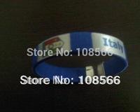 Italy soccer bule  wristband  / football fans sports bracelet 2pcs