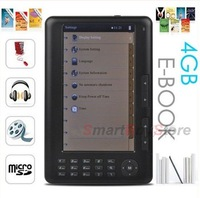 Электронная книга 7 inch e-book reader, 4GB 800*480 Pixels touch screen TTS ebook+4000mAh battery