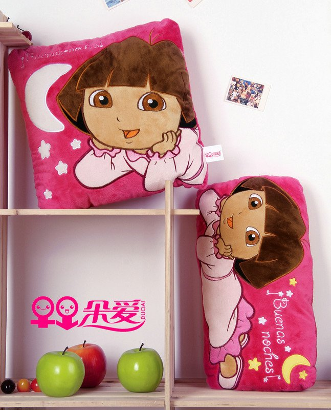 Dora pillow love Children's toy Cushion for leaning on kids toys, three colour girl's hold pillow, good quality, Freeshipping(China (Mainland))