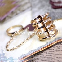 Free Shipping~New Products for 2012 Fashion Rings Jewelry Gold Hollow Chain Ring for Women, jsq34 (N122)