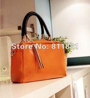 2012 leisure PU leather candy bag multicolor zipper Messenger Bag women's packet bag
