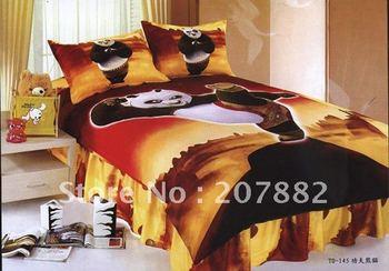 Free Shipping By DHL,UPS.EMS!! Gungfu Panda Cotton Single Bedding set Carotoon Children Bed Sheet A0787 On Sale Wholesale
