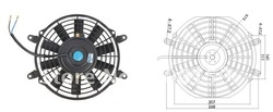 auto A/C electric fan 9&quot;(China (Mainland))