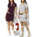 Free shipping women&#39;s Cotton Summer short sleeve Polo Shirts dress with brand design