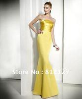 New Women's Dress Wedding Evening Party Mermaid Yellow Sexy Adult ceremony Maxi Dresses