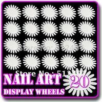 20 sheets White Nail Art Display & Practice Wheel Tips False Nail Freeshipping