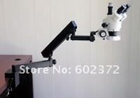 FREE SHIPPING ! 7X-90X STEREO ZOOM MICROSCOPE +ARTICULATING STAND+CLAMP LED MICROSCOPE