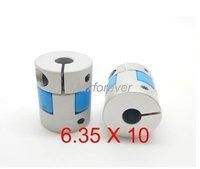 CNC stepper motor Flexible Plum Coupling Shaft 6.35mm X 10mm GFC