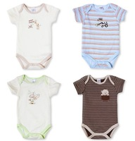 New Arrival Short Sleeve Baby Rompers Summer designs Baby Bodysuit Clothing 0-3M,3-6M Free Shipping,200pcs/lot