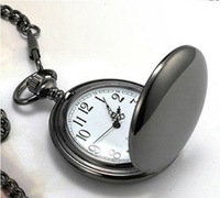 47X47MM New Arrival Big Size Black Polish Pocket Watch free shipping 5pcs/lot