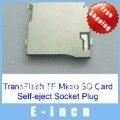 4 pcs  TransFlash TF Micro SD Card Self-eject Socket Plug .free sipping