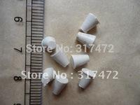 """""""$15 off per $150 order"""" white rubber stopper for vial pendants"""