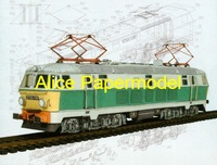 [Alice papermodel] 1:87 ho scale train railway locomotive car models type t2