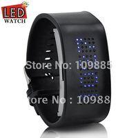 Free shipping!LED watch, Digital watch, Blue LED,Grim Pilgrim - Japanese Styple Blue LED Watch
