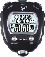 LEAP 100 Memories 3 Row LCD Display Stopwatch Timer(PC660)