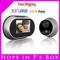 free shipping 3.5&quot; large screen display LCD digital peephole viewer+ disturb not function
