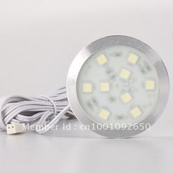 LED Round Slim Simple Style SMD5050 Cabinet Light Back Lighting Home Display 9leds 12VDC Furniture Decorative(China (Mainland))