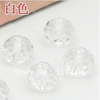 720pcs/lot  8mm Mixed white Clear Crystal Glass Beads  Round Facet Crystal Beads free shipping