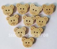 Free shipping W051 fashion wooden buttons 200pcs/lot sewing buttons 13mm*11mm garment button