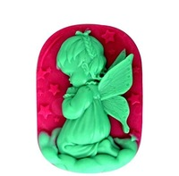 3D a girl make a vow shape R0967 soft silicone resin Soap chocolate Mold  handmade soap cake cookie mould