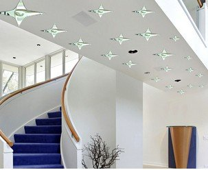 acrylic 3d decoration mirror,Stereo mirror wall sticker,house ceiling stars/Environmental protecrion.Wholesale and retail