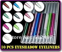 10 colors Shimmery Makeup Eyeliner Pencil eye shadow eye liner Freeshipping