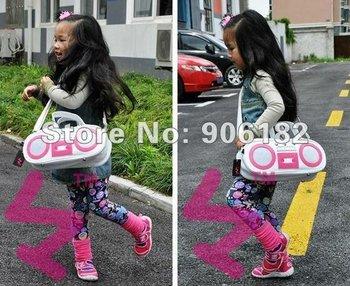 20PCS/LOT EMS FREE Kids Backpack/ School Bag/Sling bag/Kid bags Bag Cartoon Designs Shoulders Adjustable Baby Backpack 3 Colors
