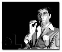 Hand Painted Contemporary Modern Scarface With Cigar B/W Pop art Paintings On Canvas oLo PP032