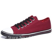 2012 fashion men's British style pointed shoes breathable canvas shoes Korean shoes
