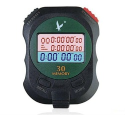 LEAP Brand Analog Sports Stopwatch with 3 Row LCD Display/30 Lap Memories(PC930)(China (Mainland))